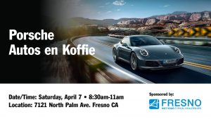 CANCELED due to rain forecast! Auto's en Koffie @ Porsche Fresno @ Auto's en Koffie @ Porsche Fresno | Fresno | California | United States