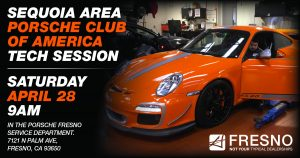 Porsche of Fresno Tech Event @ Porsche of Fresno | Fresno | California | United States