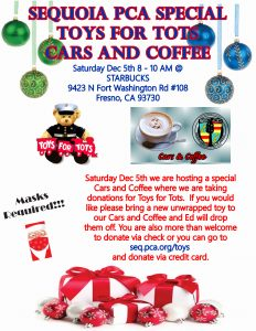 Toys For Tots, Cars, and Coffee @ Starbucks | Fresno | California | United States