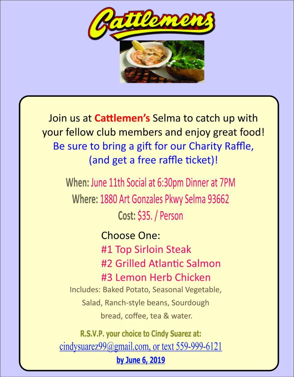 Dinner Social @ Cattlemens @ Cattlemens   Selma   California   United States