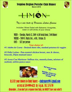 Limón Dinner Social @ Limón Peruvian Cuisine | Fresno | California | United States