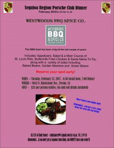 Dinner Social @ Westwoods BBQ @ Dinner Social @ Westwoods BBQ | Fresno | California | United States